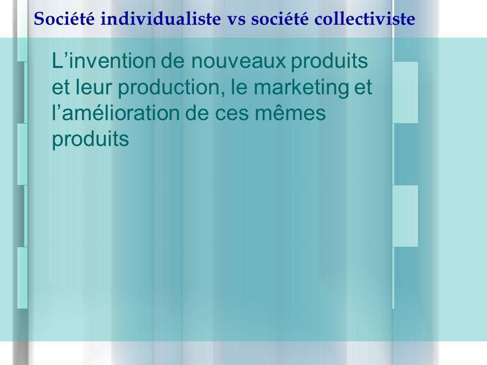 Société individualiste vs société collectiviste