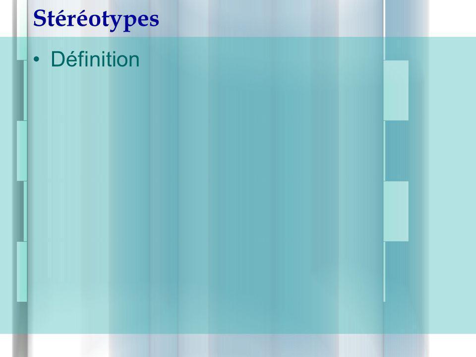 Stéréotypes Définition