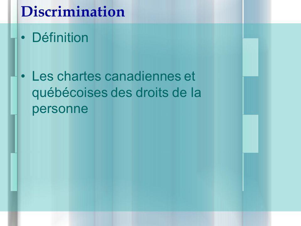 Discrimination Définition