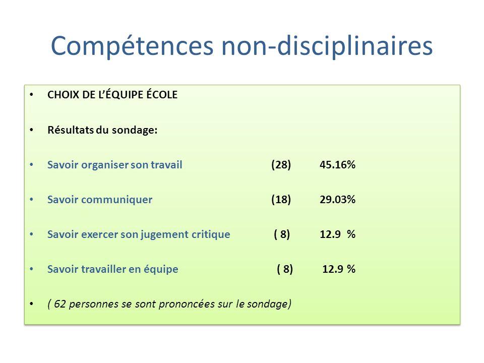 Compétences non-disciplinaires
