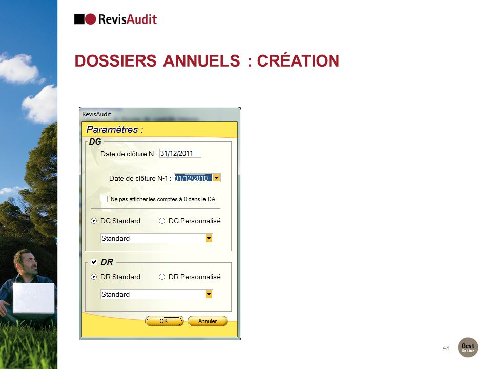 Dossiers Annuels : création