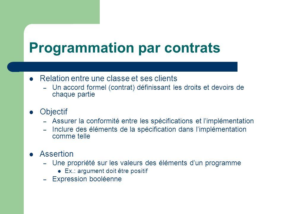 Programmation par contrats
