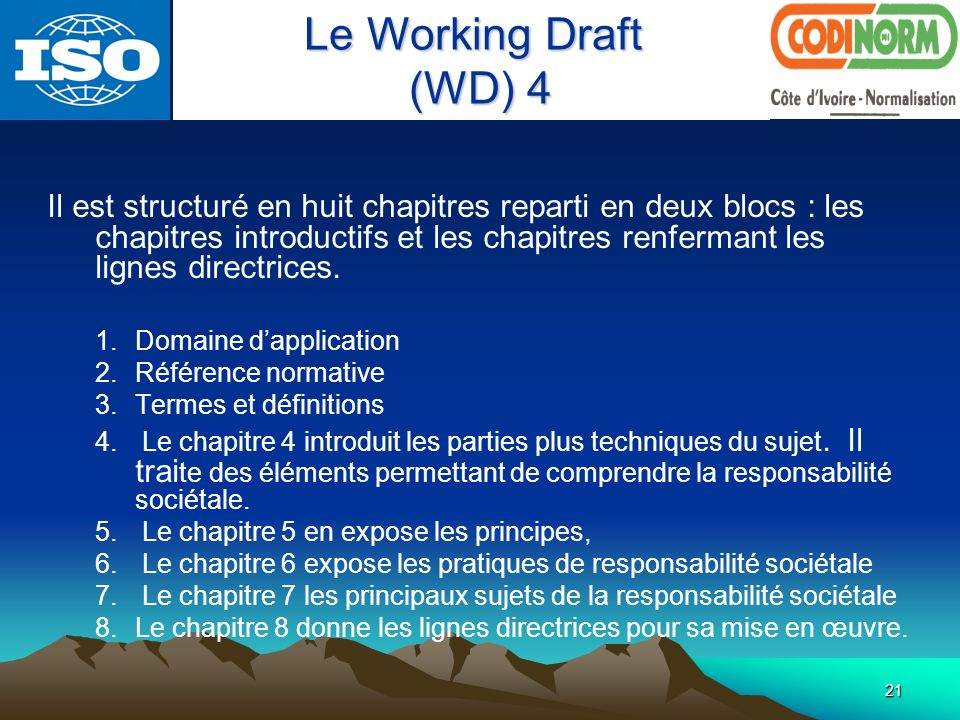 Le Working Draft (WD) 4.