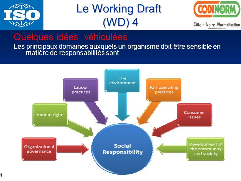 Le Working Draft (WD) 4 Quelques idées véhiculées