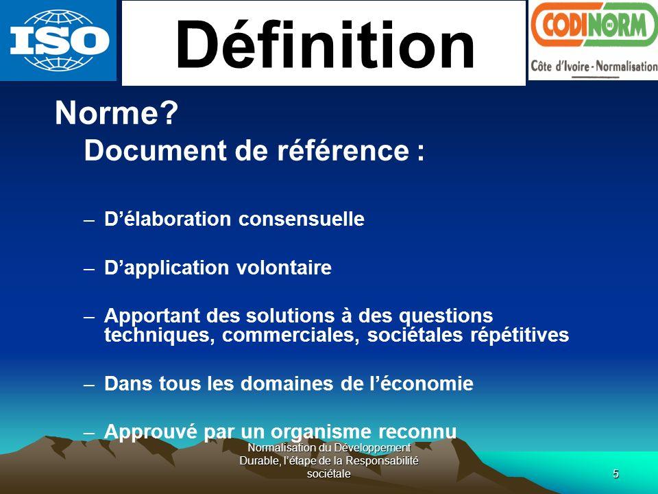 Définition Document de référence : D'élaboration consensuelle