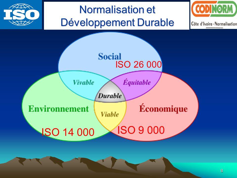 Normalisation et Développement Durable