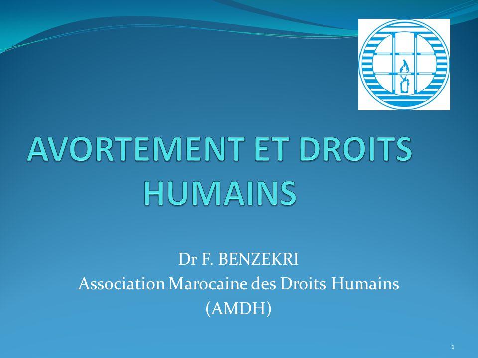 AVORTEMENT ET DROITS HUMAINS