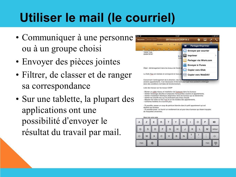 Utiliser le mail (le courriel)