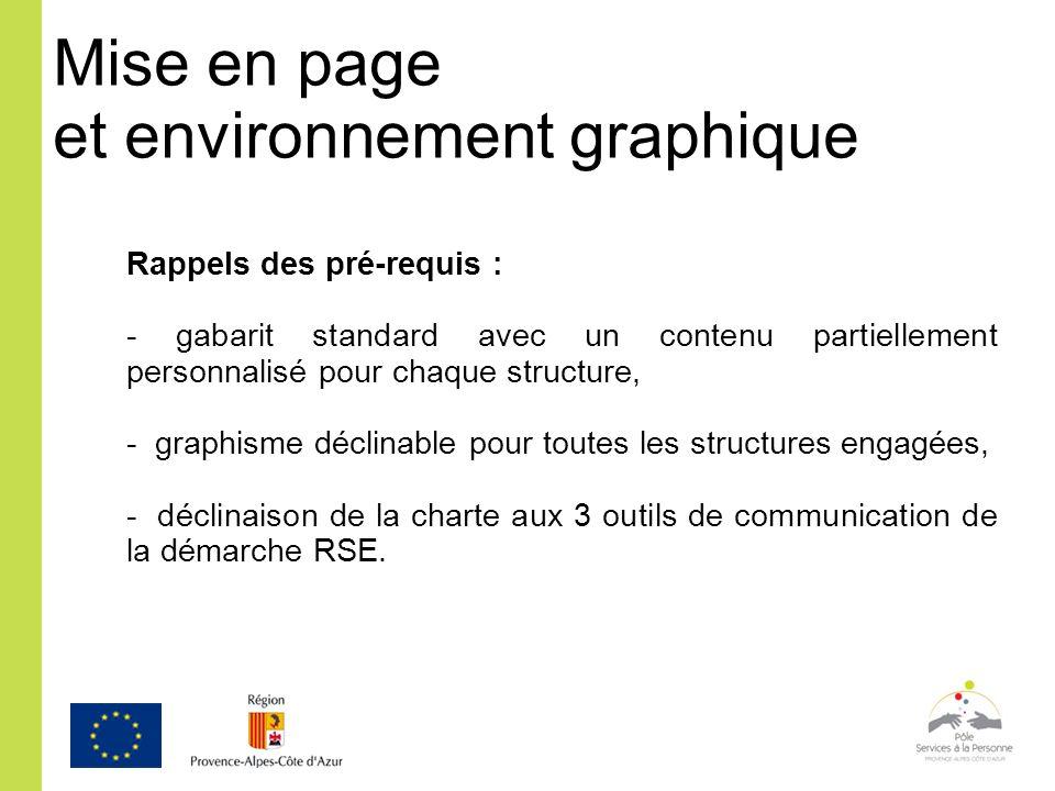 Mise en page et environnement graphique
