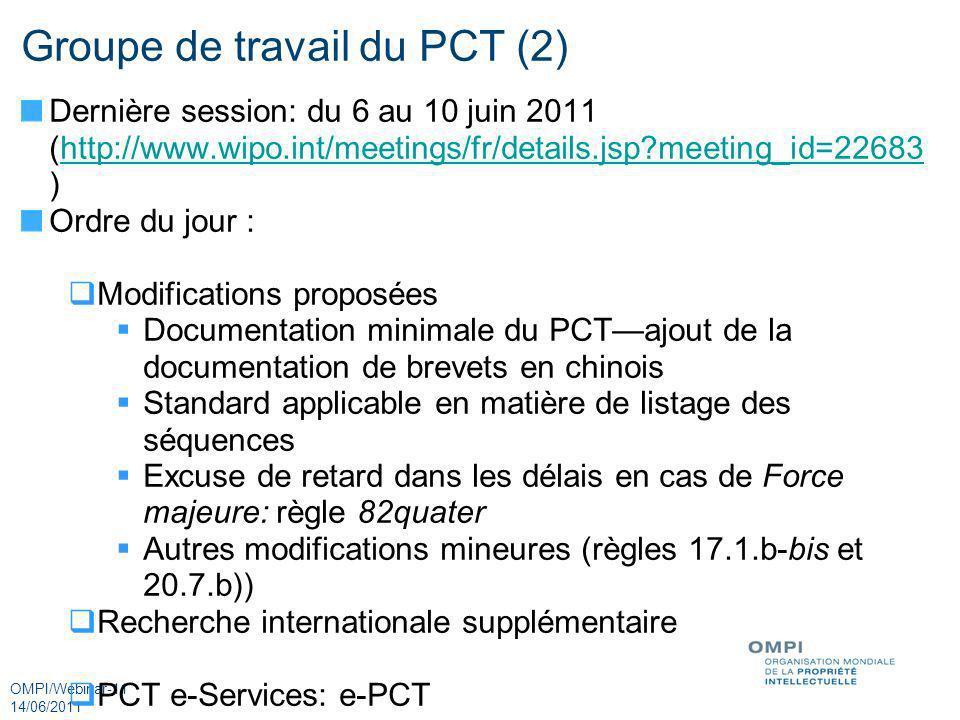 Groupe de travail du PCT (2)