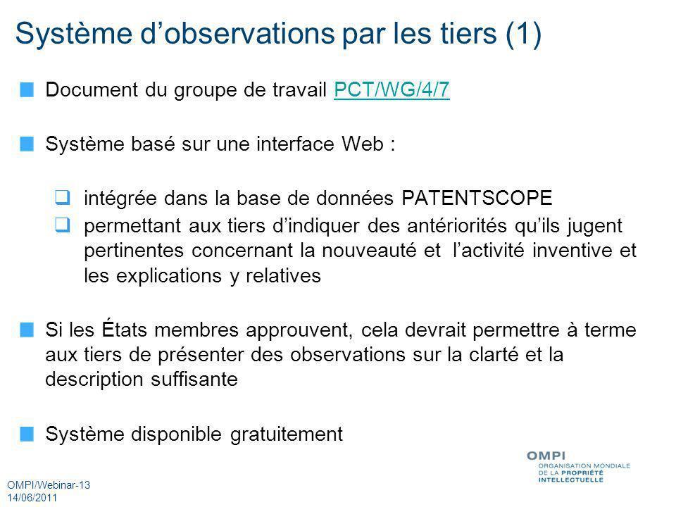 Système d'observations par les tiers (1)