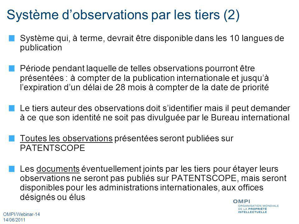 Système d'observations par les tiers (2)