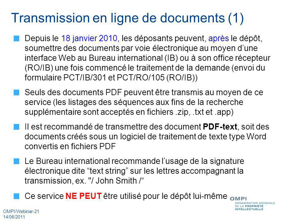Transmission en ligne de documents (1)