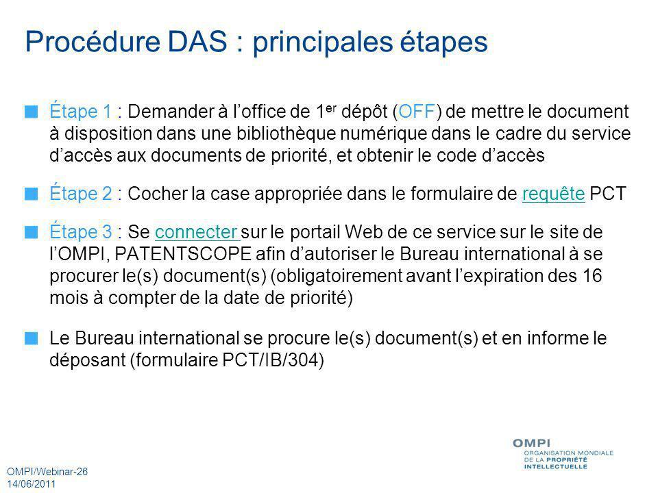 Procédure DAS : principales étapes