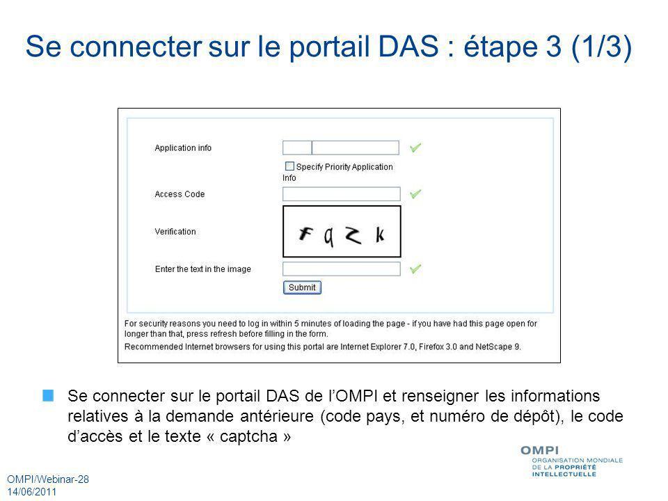 Se connecter sur le portail DAS : étape 3 (1/3)
