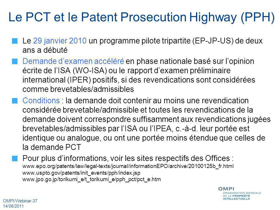 Le PCT et le Patent Prosecution Highway (PPH)