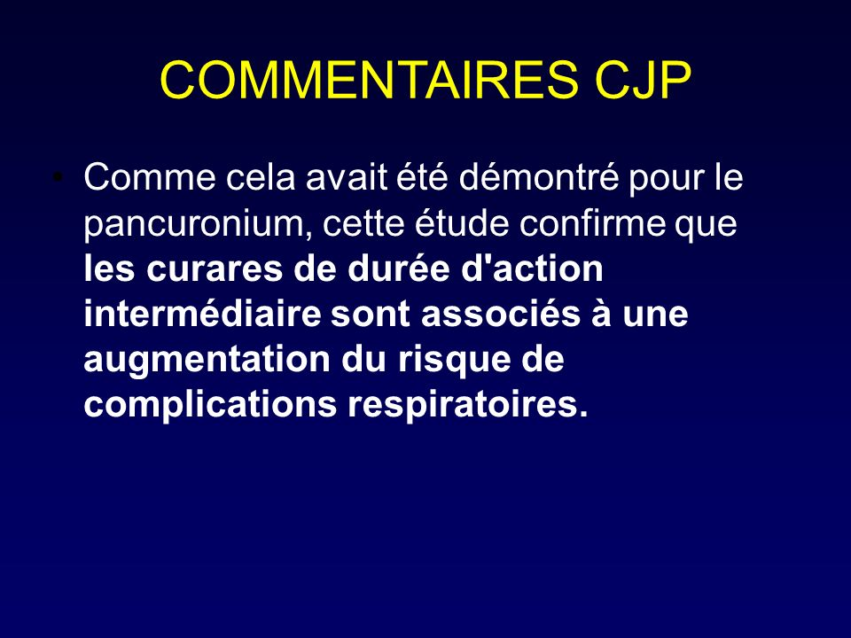 COMMENTAIRES CJP