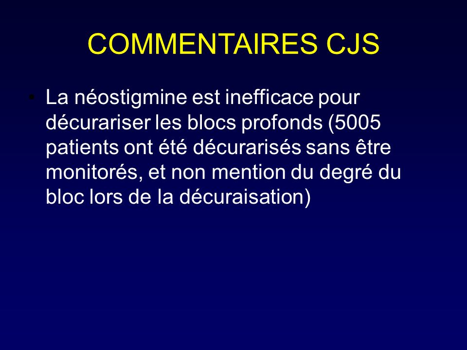 COMMENTAIRES CJS