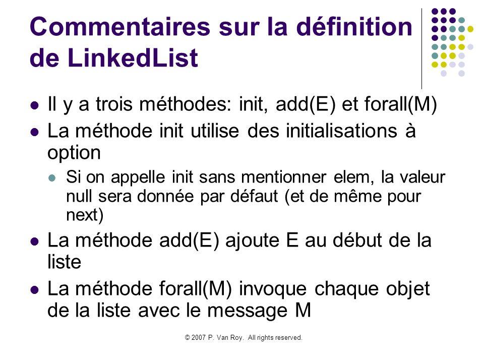 Commentaires sur la définition de LinkedList