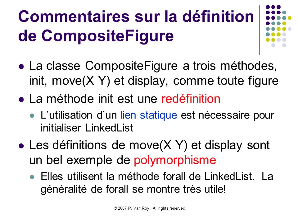 Commentaires sur la définition de CompositeFigure