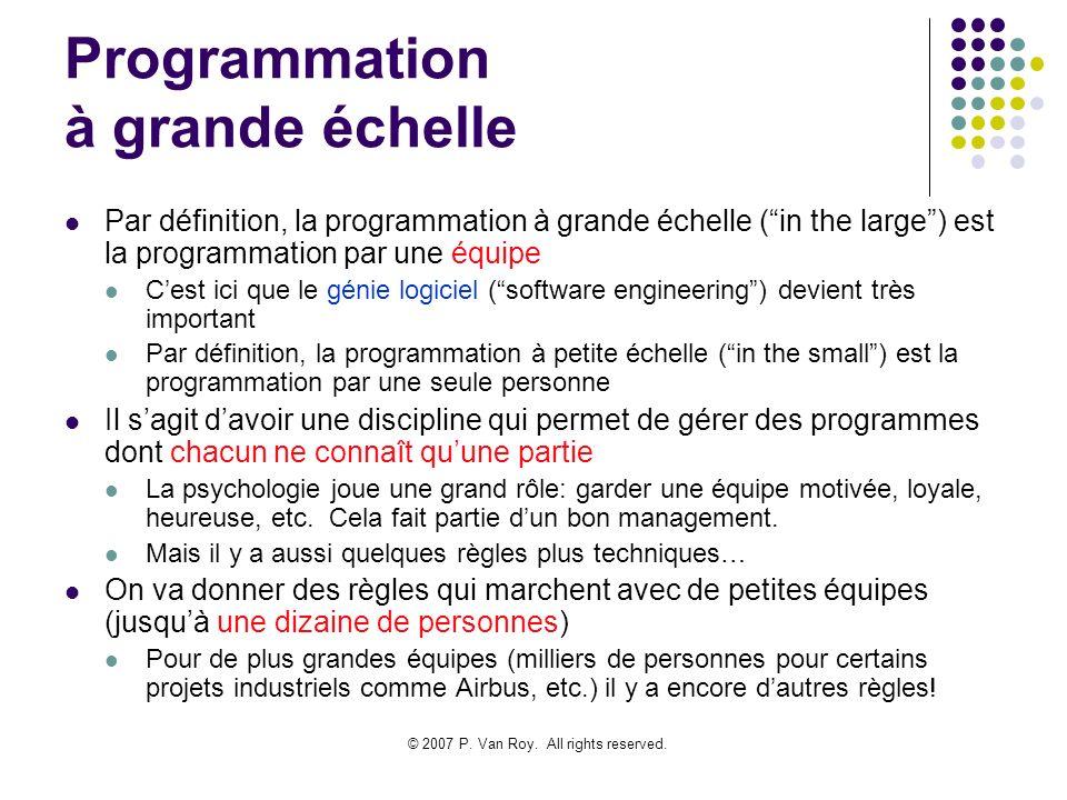 Programmation à grande échelle