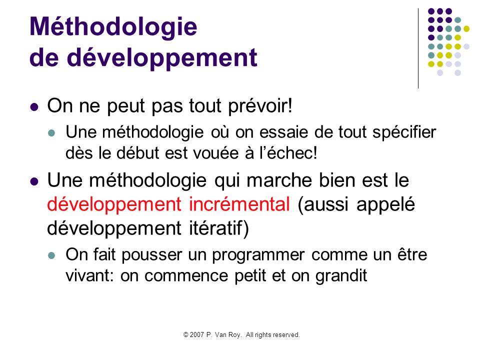 Méthodologie de développement