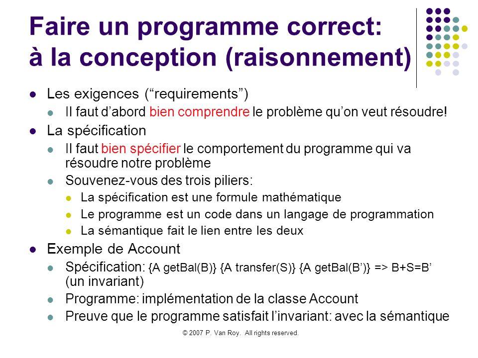 Faire un programme correct: à la conception (raisonnement)