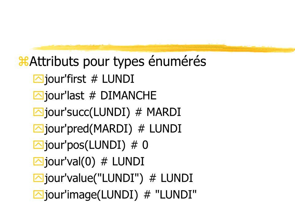 Attributs pour types énumérés