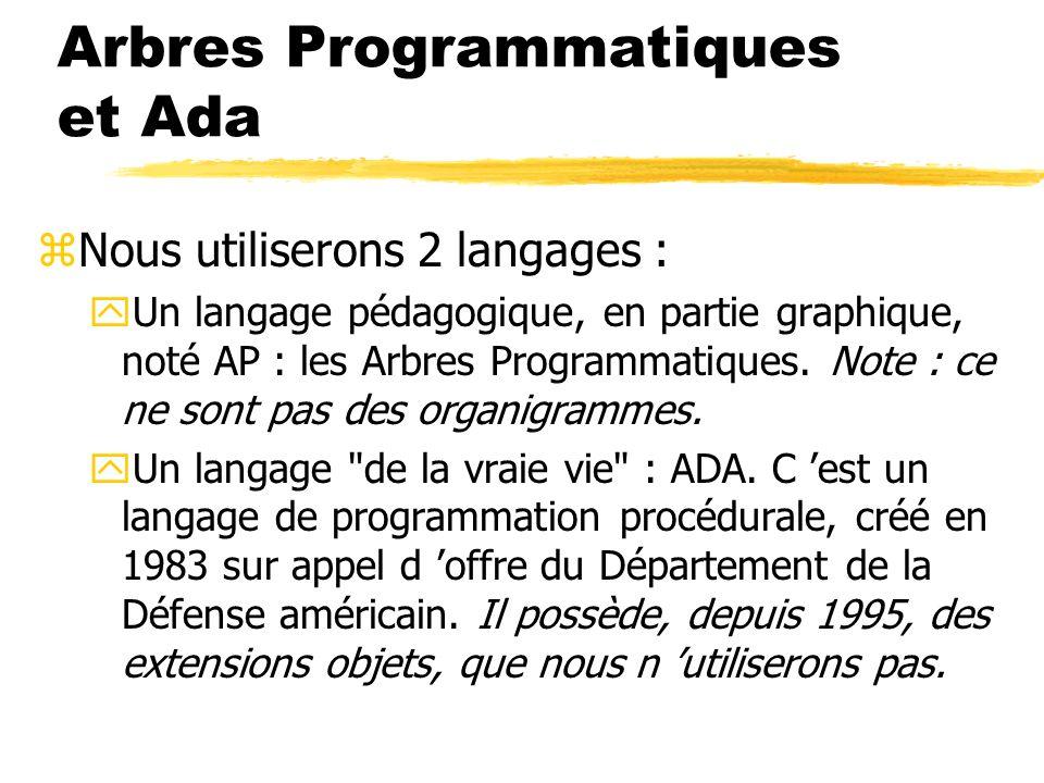Arbres Programmatiques et Ada