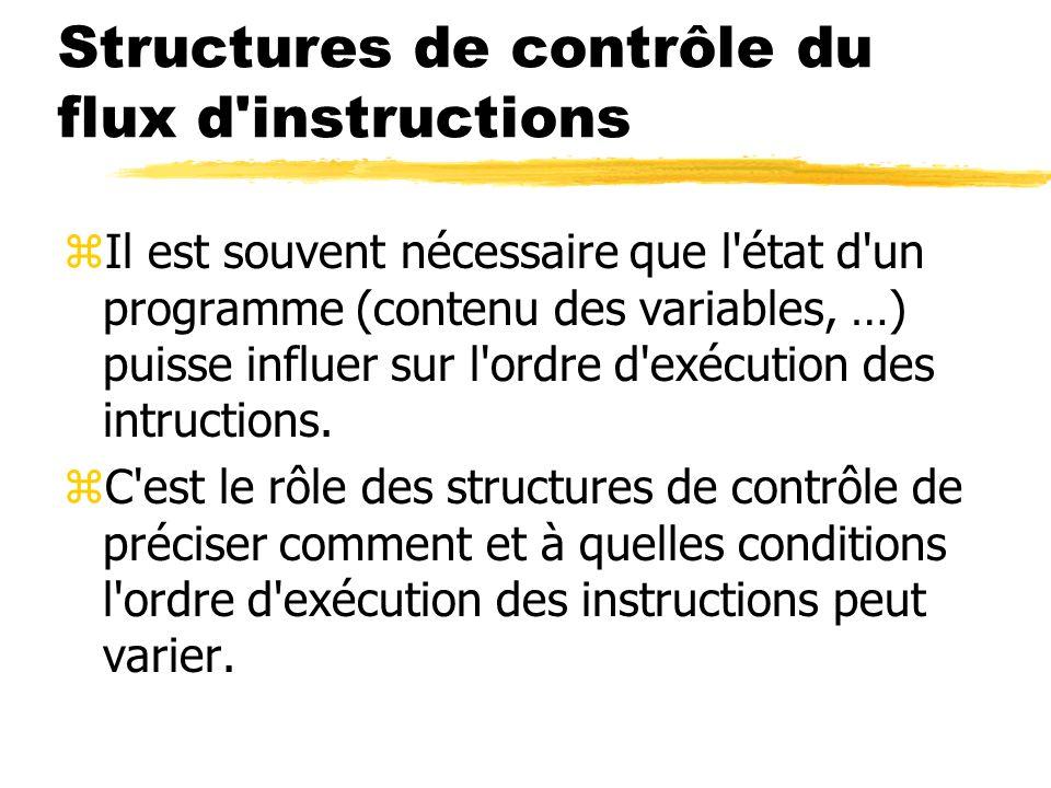 Structures de contrôle du flux d instructions