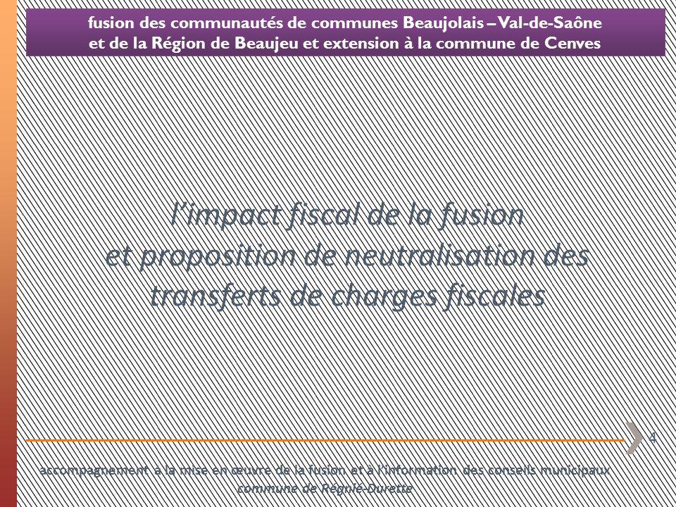 l'impact fiscal de la fusion