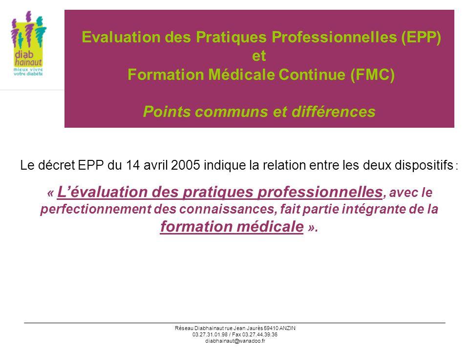 Evaluation des Pratiques Professionnelles (EPP) et