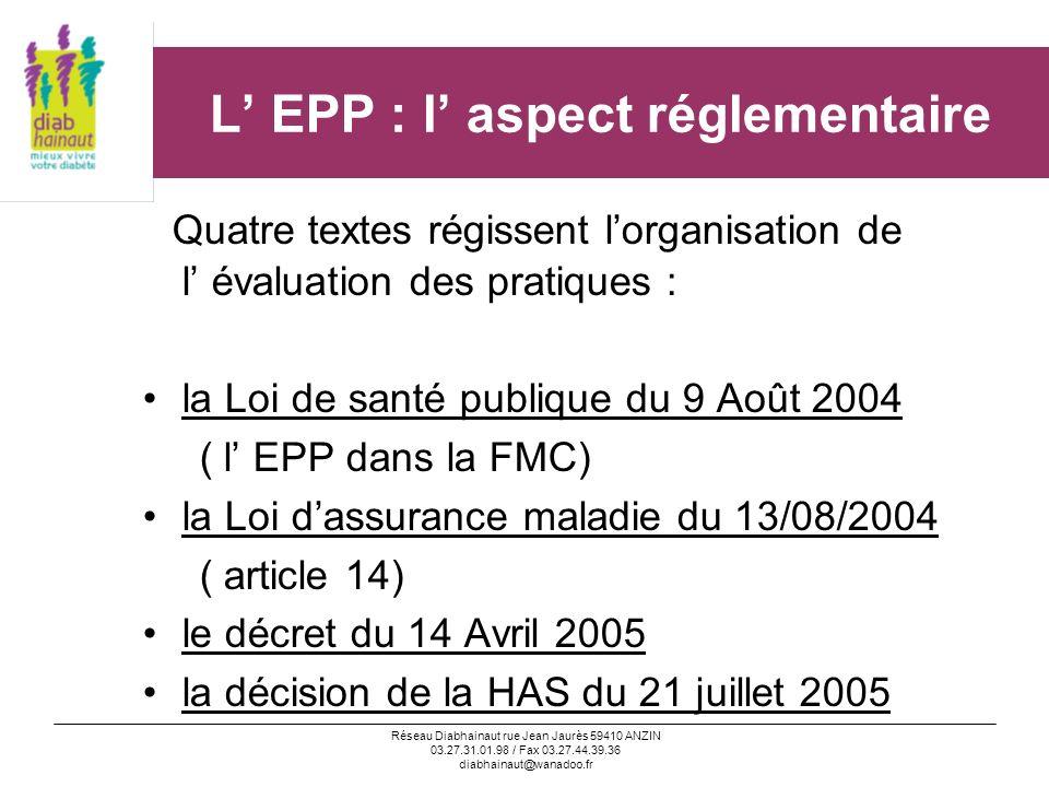 L' EPP : l' aspect réglementaire