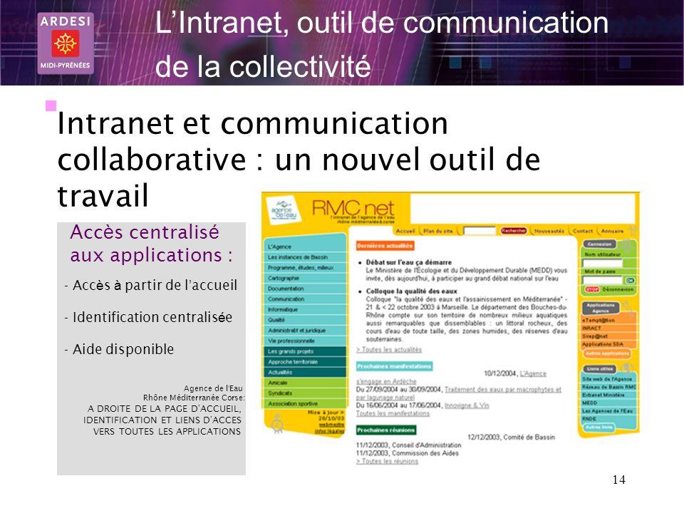 L'Intranet, outil de communication de la collectivité