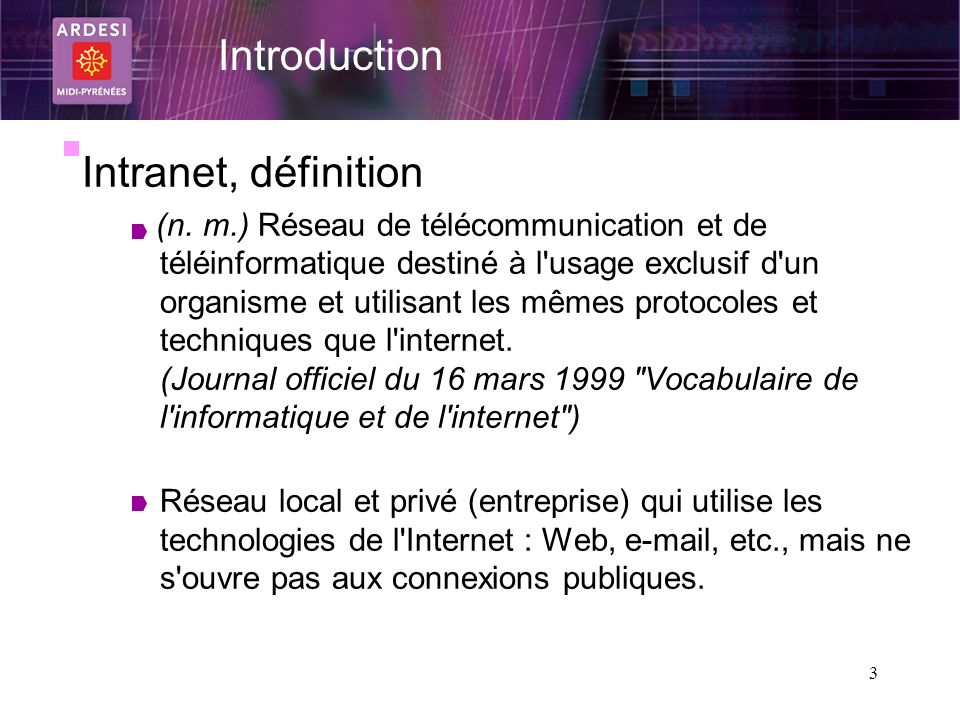 Introduction Intranet, définition