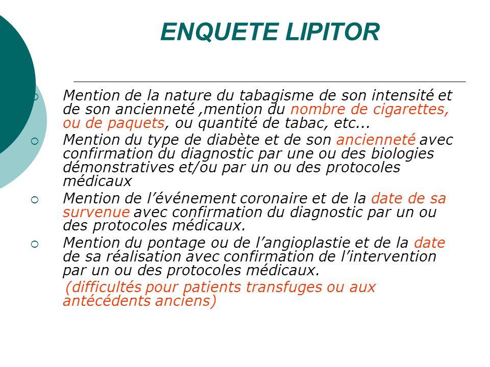 ENQUETE LIPITOR