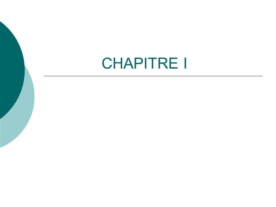 CHAPITRE I