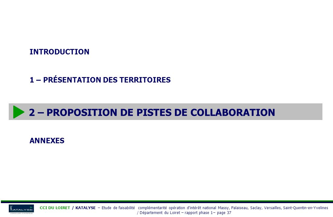 2 – Proposition de pistes de collaboration