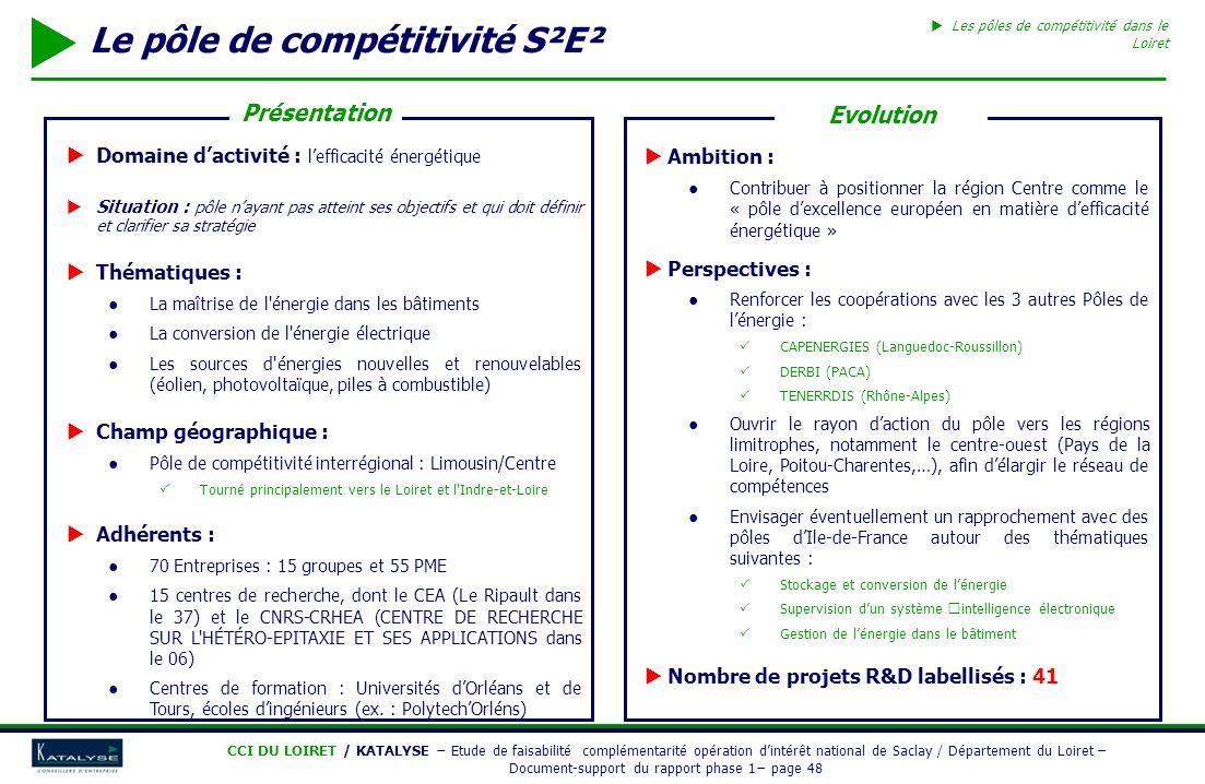 Le pôle de compétitivité S²E²