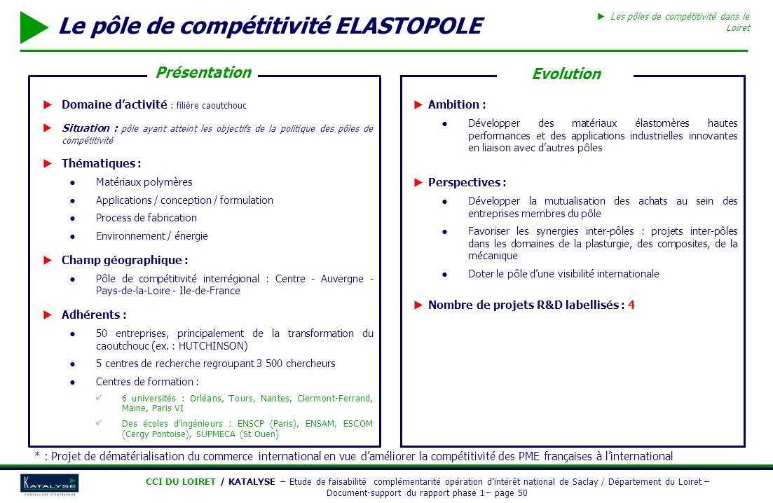 Le pôle de compétitivité ELASTOPOLE
