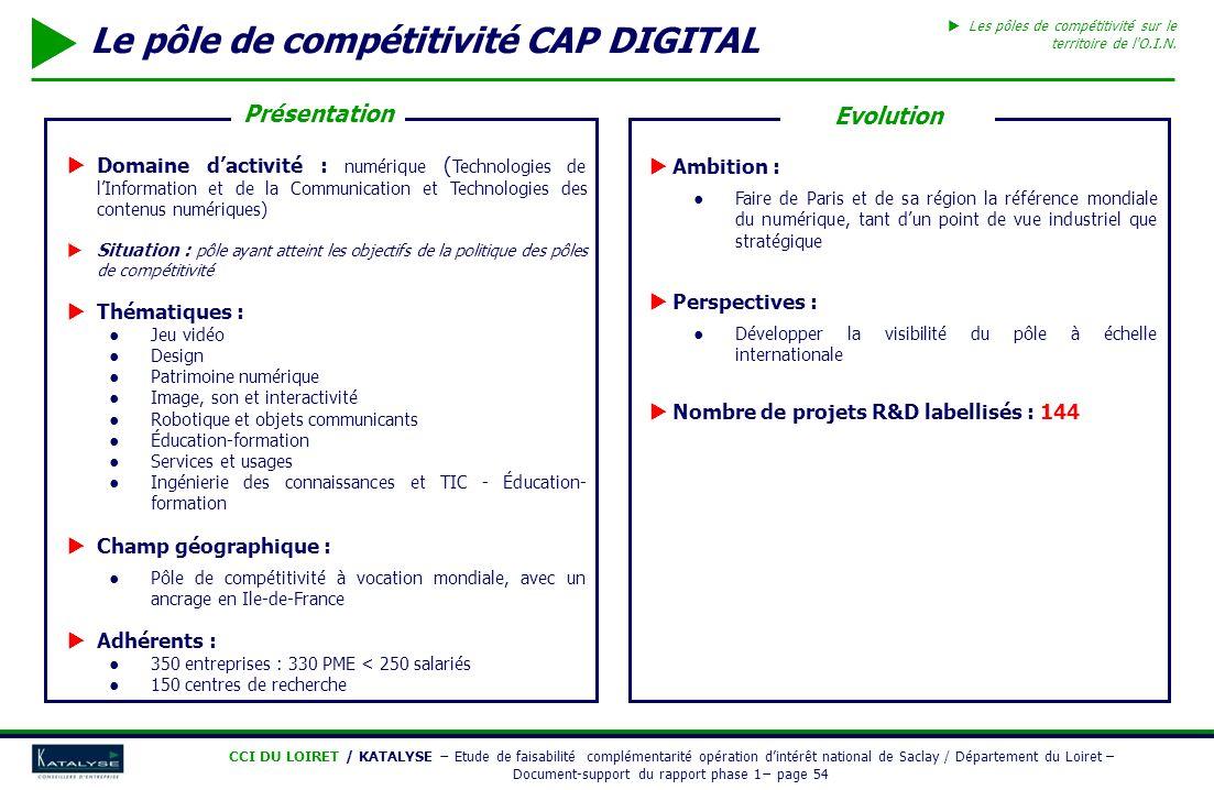 Le pôle de compétitivité CAP DIGITAL