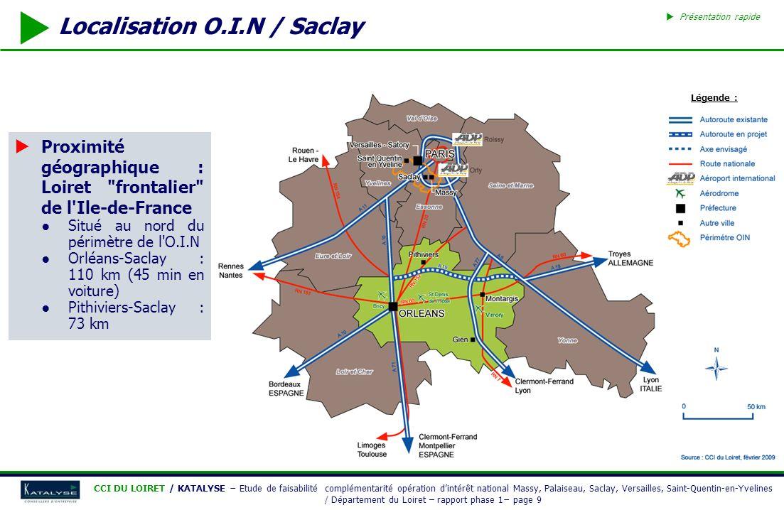 Localisation O.I.N / Saclay