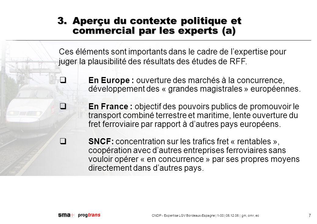 3. Aperçu du contexte politique et commercial par les experts (a)