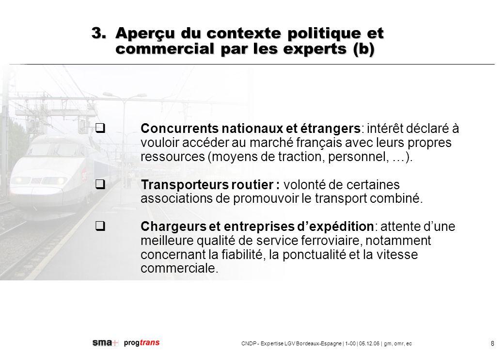 3. Aperçu du contexte politique et commercial par les experts (b)