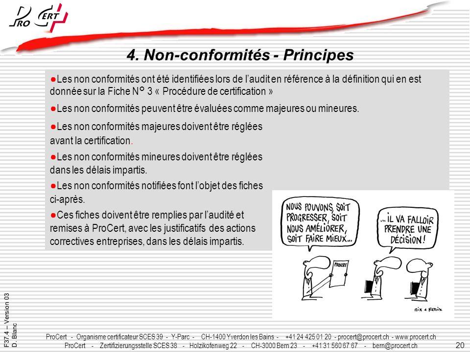 4. Non-conformités - Principes