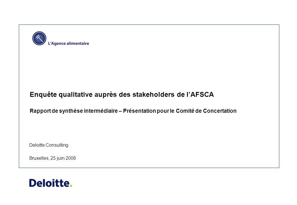 Kwalitatieve bevraging van de stakeholders van het FAVV