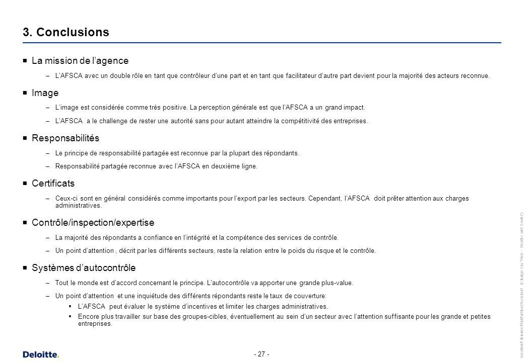 3. Conclusions Financement Organisation Fonctionnement participatif