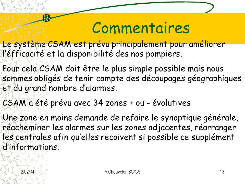 Commentaires Le système CSAM est prévu principalement pour améliorer l'éfficacité et la disponibilité des nos pompiers.