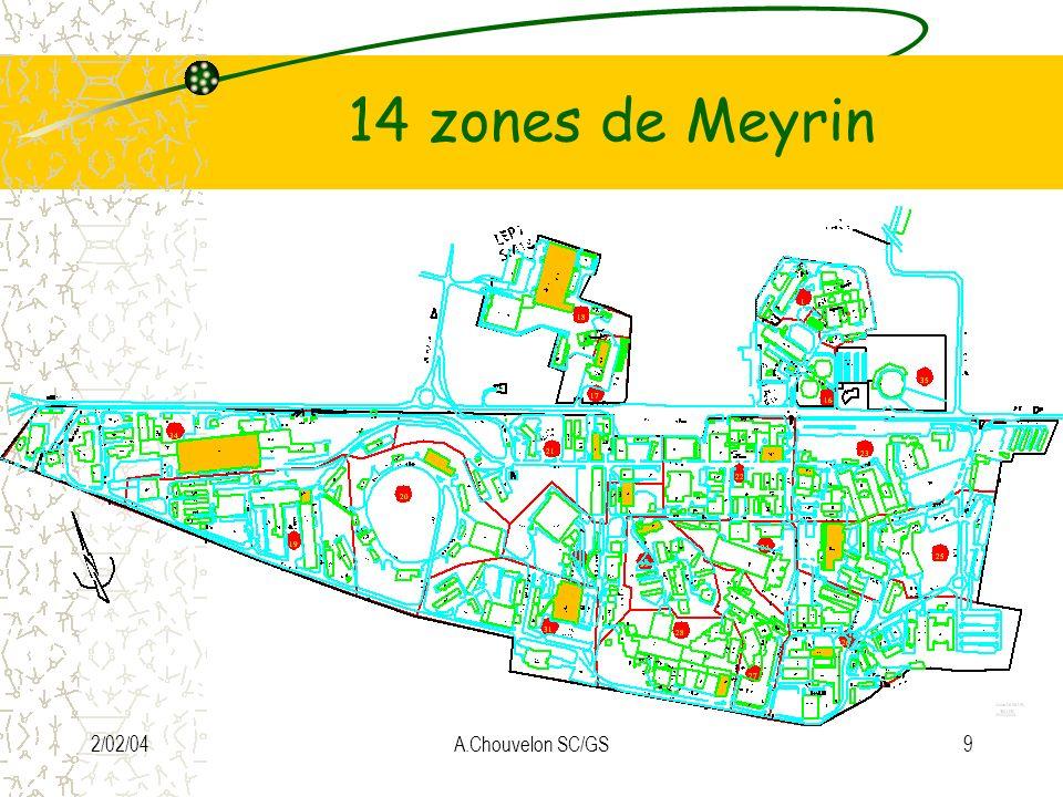 14 zones de Meyrin 2/02/04 A.Chouvelon SC/GS