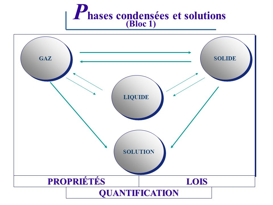 Phases condensées et solutions